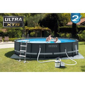 26326 - ULTRA XTR FRAME POOL (4.88 m x 1.22 m) ROUND with Sand Filter Pump