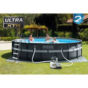 26330 - ULTRA XTR FRAME POOL (5.49 m x 1.32 m) ROUND with Sand Filter Pump