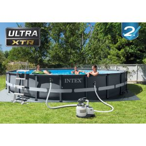 26334 - ULTRA XTR FRAME POOL (6.10 m x 1.22 m) ROUND with Sand Filter Pump