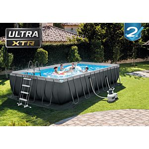 26364 - ULTRA XTR FRAME POOL (7.32 m x 3.66 m x 1.32 m) RECTANGULAR with Sand Filter Pump