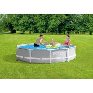 26702 - INTEX PRISM FRAME POOL (3.05 m x 76 cm) ROUND with Filter Pump
