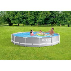 26712 - INTEX PRISM FRAME POOL (3.66 m x 76 cm) ROUND with Filter Pump