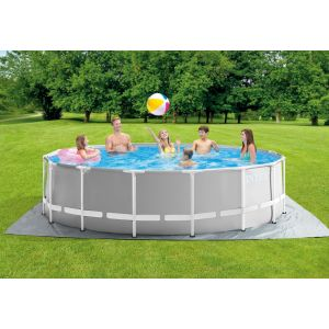 26726 - INTEX PRISM FRAME POOL (4.57 m X 1.22 m) ROUND with Filter Pump