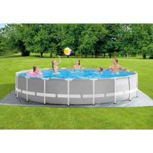 26732 - INTEX PRISM FRAME POOL (5.49 m X 1.22 m) ROUND with Filter Pump