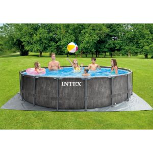 26742 - INTEX GREYWOOD PRISM FRAME POOL (4.57 m X 1.22 m) ROUND with Filter Pump
