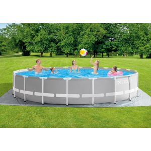 26756 - INTEX PRISM FRAME POOL (6.10 m x 1.32 m) ROUND with Filter Pump