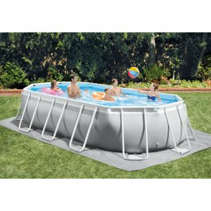 26796 - INTEX PRISM FRAME POOL (5.03 m x 2.74 m x 1.22 m) OVAL with Filter Pump