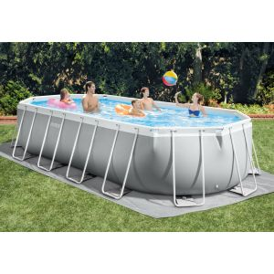 26798 - INTEX PRISM OVAL FRAME POOL (6.10 m x 3.05 m x 1.22 m) OVAL with Filter Pump